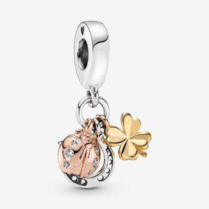 Pandora Horseshoe, Clover & Ladybird Dangle Charm